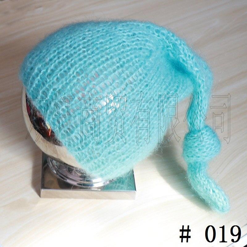 Long braid hat Handcraft Mohair fluffy crochet Bonnet, Hat, Beanie. Photography prop. Newborn ,Baby Photography Props