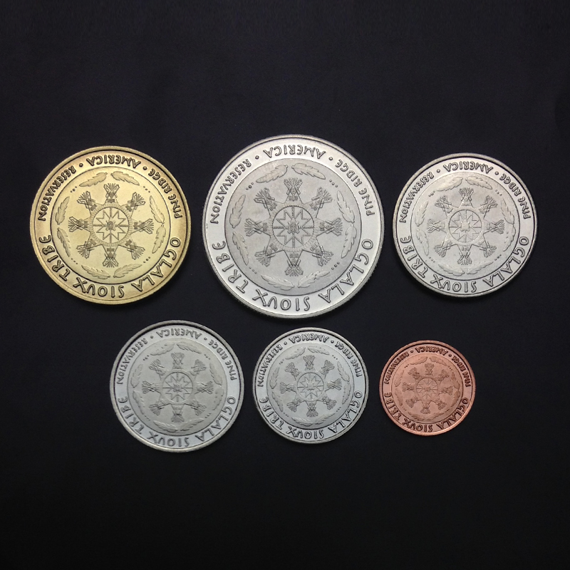 6pcs American tribal tribe coin 100% original coin collection 2014 year Not circulated
