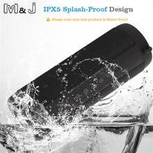 M & J Không Dây Bluetooth Tốt Nhất Loa Không Thấm Nước Xách Tay Ngoài Trời Mini Hộp Cột Loa Thiết Kế Loa cho iPhone Xiaomi
