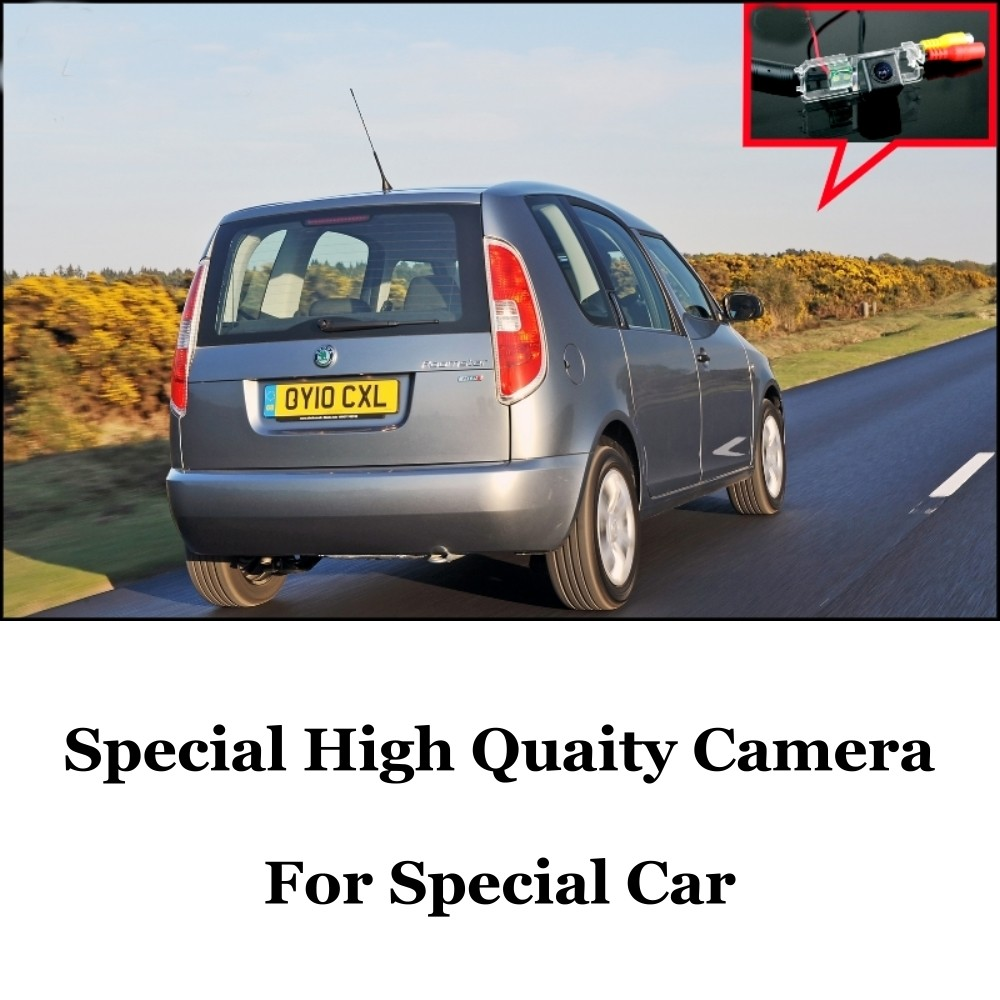 Car Camera For Skoda Roomster ( Type 5J ) 2006~2014 High Quality Rear View Back Up Camera For Fans  CCD + RCACar