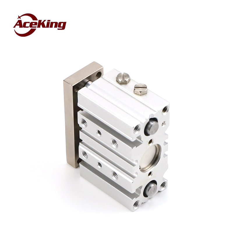 Triaxial cylinder type SMC pneumatic TCM with guide rod MGPM25 20 z 30 40 50 75 100 125 150 fixture jig top tight in Pneumatic Parts from Home Improvement