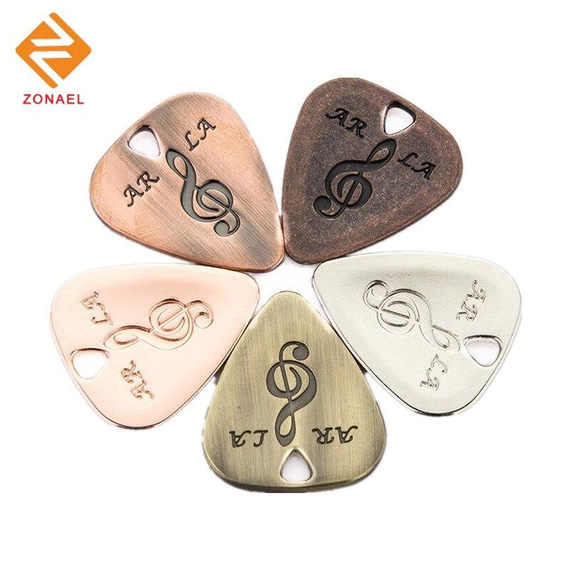 ZONAEL 1 Pcs Metal Stainless Steel Guitar Picks Pick Bass Guitar Picks Stainless Steel Acoustic Electric Guitarra Plectrums