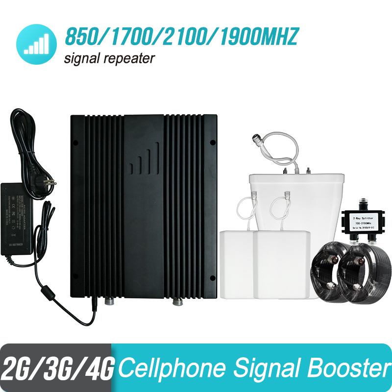 Powerful 850/1700/2100/1900mhz Signal Amplifier 2G 3G 4G CDMA PCS AWS Cellular Receiver Repeater For Mexico/Chile/Argentina #23