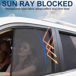 Image 3 - Lato Finestre Magnetico Tenda Da Sole di Protezione UV Ray Blocco Maglia Visiera Misura Per Renault Kadjar 2016 2018