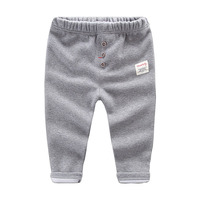 Male And Female Baby Thickened Sports Trousers Boys Plus Velvet Warm Casual Underwear Trousers