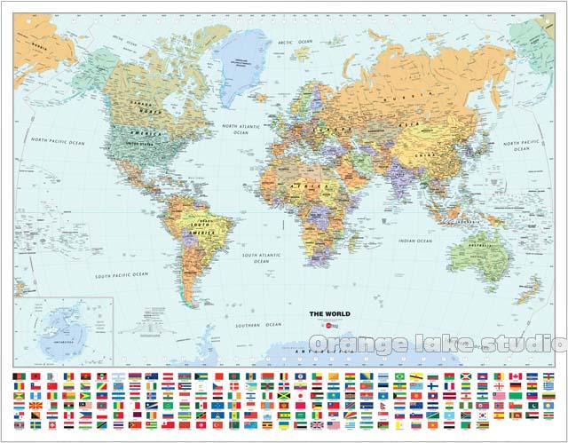 Grande carte du monde HD salles de classe bureau décoration de la maison détaillé Antique affiche murale tableau coton tissu toile peinture 2 taille