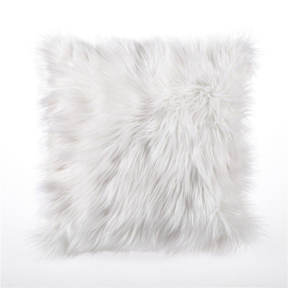 umiss luxury cushion cover home decoration soft plush faux fur fleece