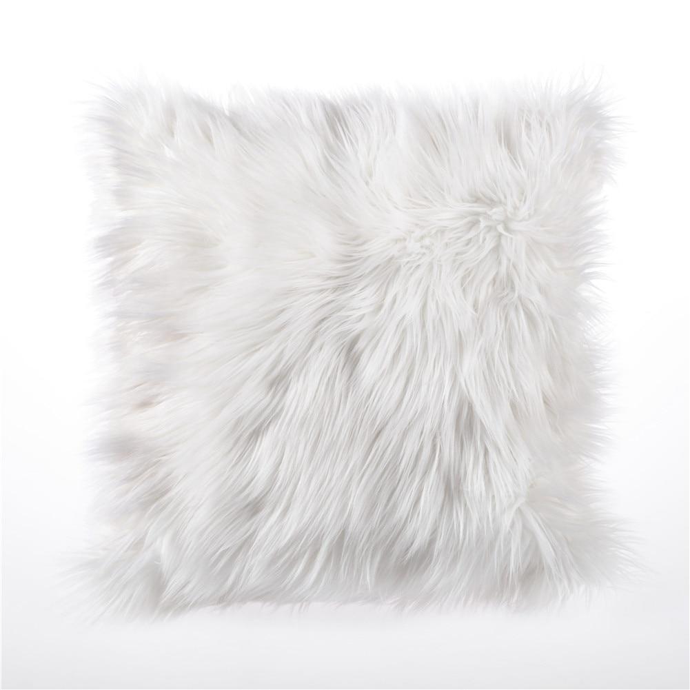 U-miss Luxury Cushion Cover Home Decoration Soft Plush Faux Fur Fleece