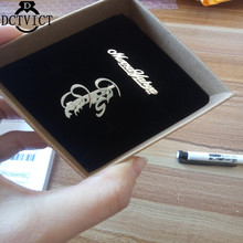 2019 personalized brooch custom name stainless steel handwritten font woman man romantic gift birthd