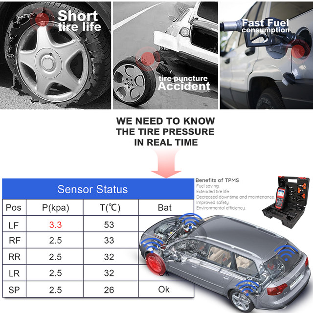 Autel TS501 TPMS Service tool RDKS tire pressure monitoring system Reset  tool Activate programing sensor and Read tpms DTC code
