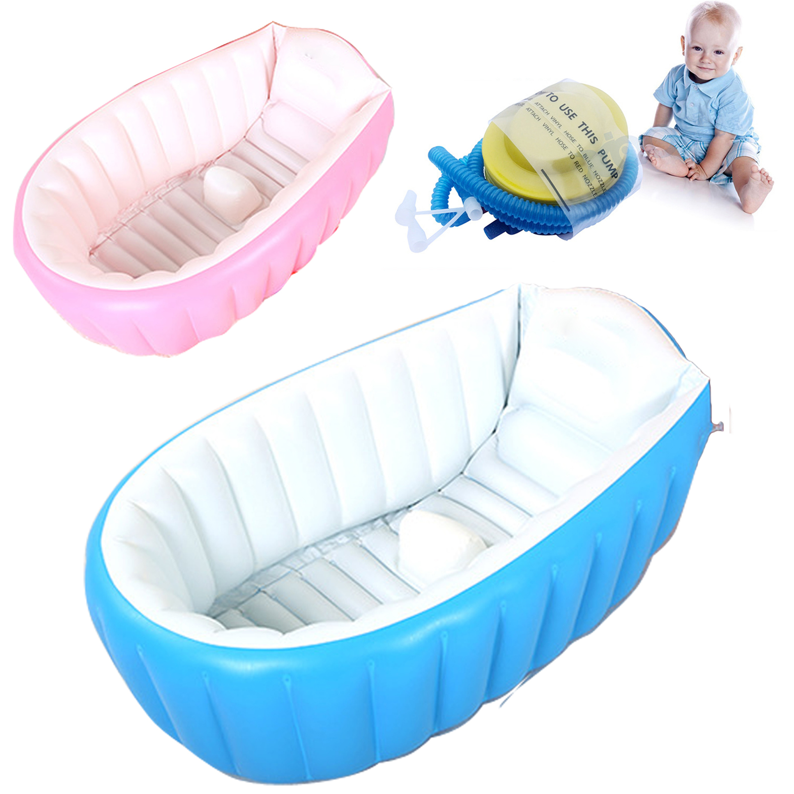 2017 Real Top Fashion Baby Ring Inflatable Tubs Infant Inflatable Swimming  Pool Baby Tub/soft