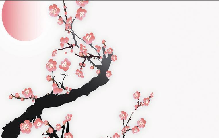 3d mural designs Simple plum blossom pattern Ceiling murals wallpaper Home Decoration Ceiling 3d wallpaper mural