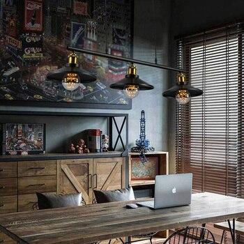 Luces colgantes Vintage lámpara colgante Retro lámpara colgante para restaurante/Bar/cafetería Luminarias de iluminación para el hogar