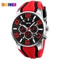 SKMEI Часы Мужчины Luxury Brand Мода Повседневная многофункциональный Кварцевые Наручные часы Силиконовые Водонепроницаемые Спортивные Часы Человек Часы 2016