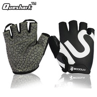 Queshark Gym Gloves Men Women Body Building Half Finger Fitness Gloves An Slip Weight Lifting Sports