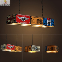 Retro led pendant lights restaurant bar plate industrial wind LED pendant lamps Net coffee shop Cafe Iron lighting fixtures