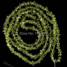 "Fashion 3X5MM Olivine Peridot Chip Crystal Loose Beads Accessory Parts Jewelry Natural Stone 1 Strand 34""L BV83 Wholesale Price"