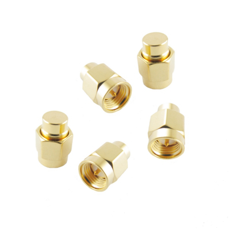 5 PCS SMA Male RF Coaxial Termination Matched Dummy Load 50 Ohm Connector Plug For RC Models Drone Quadcopter Spare Part Accs adapter sma plug male to 2 sma jack female t type rf connector triple 1m2f brass gold plating vc657 p0 5