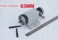 Máquina de grabado de cuarto eje (eje A  eje giratorio  cabezal divisorio CNC)  sin huecos  caja de engranajes reductora de armónicos  3 portabroca de morzada