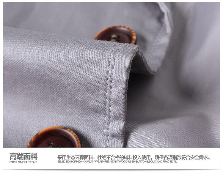 afa69cffb7 US $35.99 10% OFF|New Fashion Hot Sale Men's big size cotton Jackets short  trench Korea Casual overcoat black blue grey khaki coat plus size 6XL-in ...