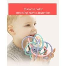 Купить с кэшбэком Manhattan Ball Baby Toys Grinding Teeth Chewing Gum Baby Teeth Clenching Stick Silicone Hand Grasping Ball