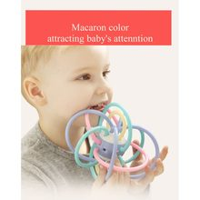 Manhattan Ball Baby Toys Grinding Teeth Chewing Gum Baby Teeth Clenching Stick Silicone Hand Grasping Ball(China)