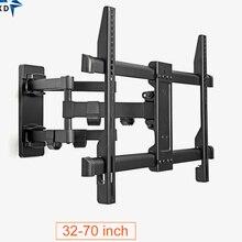 """Soporte de montaje en pared para TV, articulado con movimiento completo, tamaño 32 40 42 48 55 60 65 70"""", soporte giratorio inclinado, soporte de TV"""