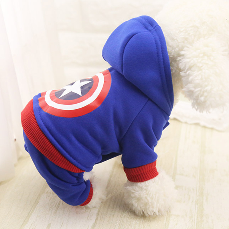 Cotton Dog Clothes Pet Hoodies For Dogs Jumpsuits Cotton Dog Hoody Puppy Costume Pet Clothes For Dogs Coat Jackets Pets Outfits #2