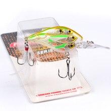 1PC Ball Crankbait Bass Baits 8cm-3.15″/9.38gg-0.33oz Crank Fishing Lures 8 Color 4# Hook Fishing Tackle