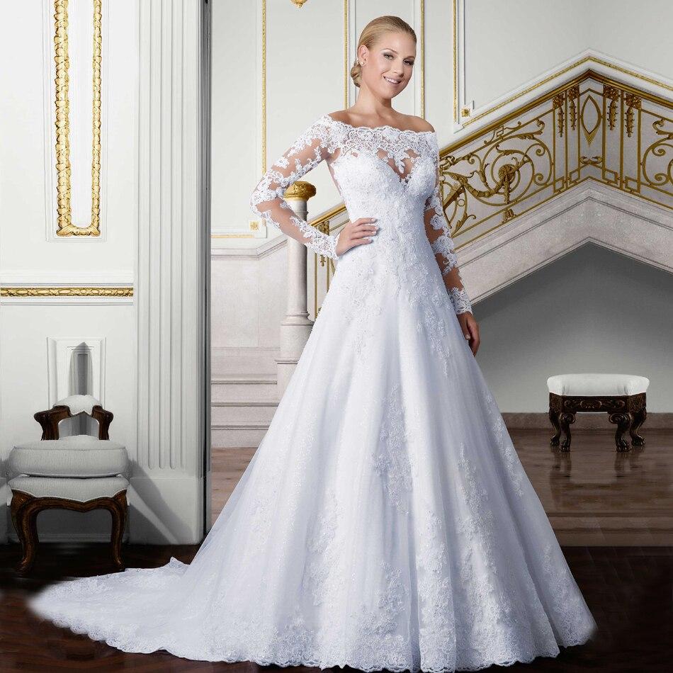 Vestido De Noiva Vintage Wedding Gown See Through Back