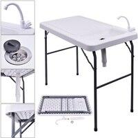 Mesa portátil plegable de pesca de corte de limpieza para caza, mesa portátil para uso al aire libre, escritorio ligero para juegos