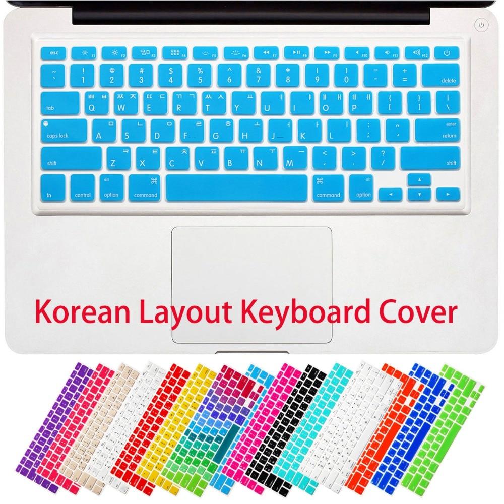RYGOU koreai betűk billentyűzetfedél MacBook Air 13 Pro 13 15 17 - Laptop kiegészítők - Fénykép 5