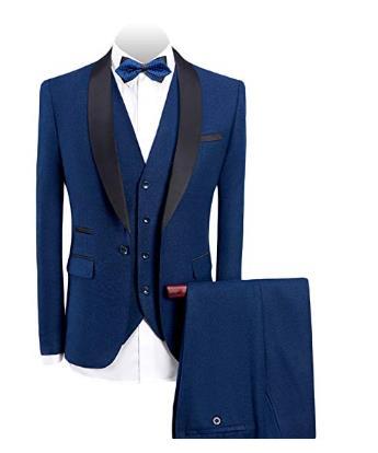 Plyesxale Brand Suit Men 2018 Autumn Slim Fit Wedding Suits For Men Black Mens Prom Suits