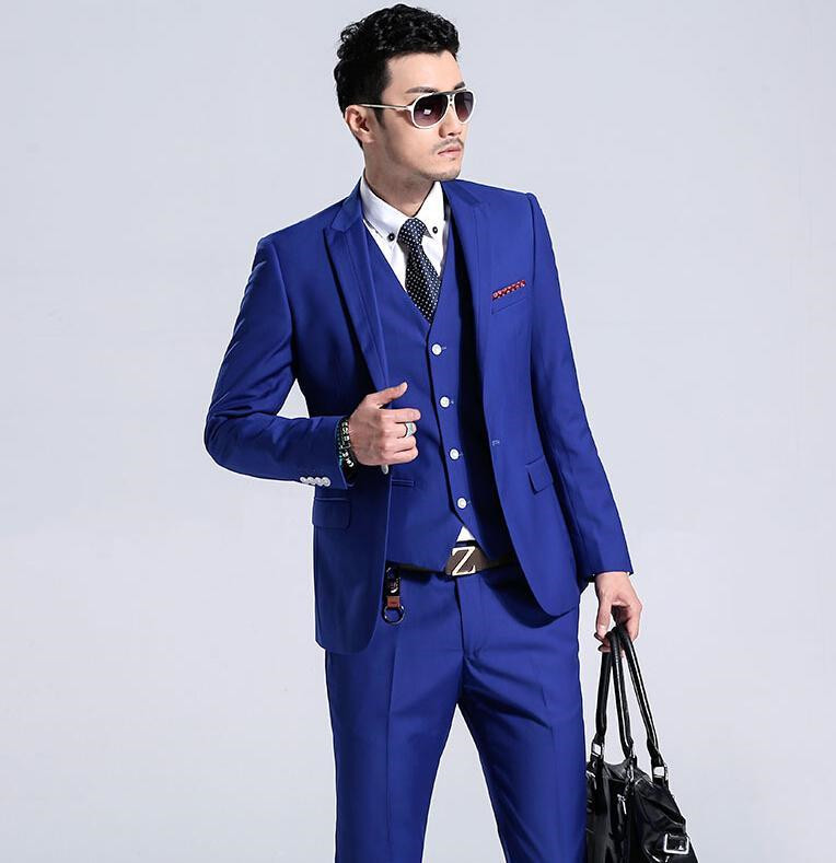 eb2f3a7ca6ba New Arrival Custom made Casual Blazer Men Slim Fit Suit palace Designer  Dress Solid Stylish Mens Suits(Jacket+Pants+vest+Tie)