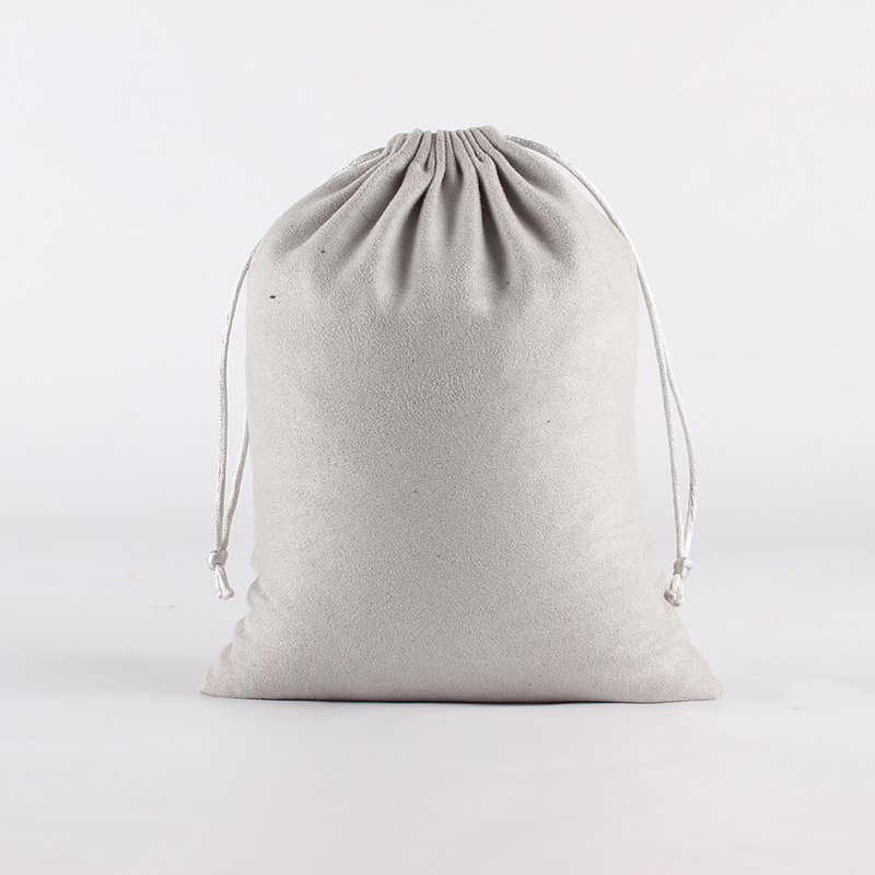5pcs/lot 18*23cm Double Side Suede Bag Custom Logo Print Pouch Drawstring Bags Christmas Gift Bag
