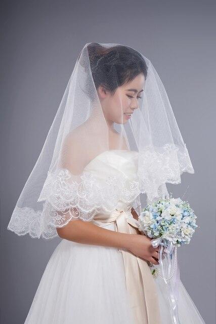 Free Shippign Lace 1.5 Meters short bridal veil bride wedding dress ...