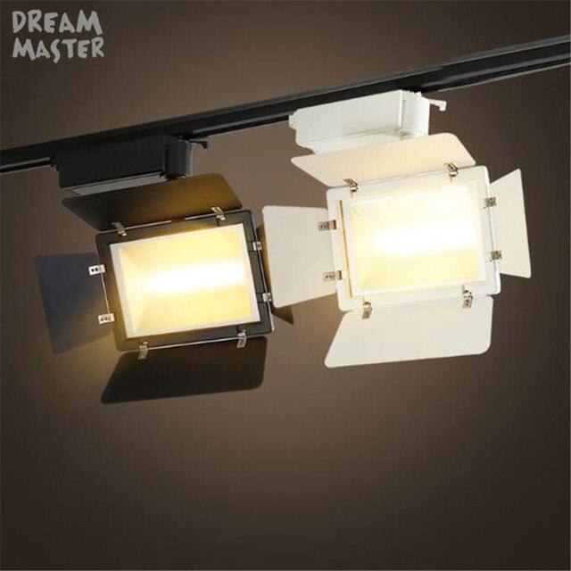 industrial led studio light black white 20w 30w led track lighting