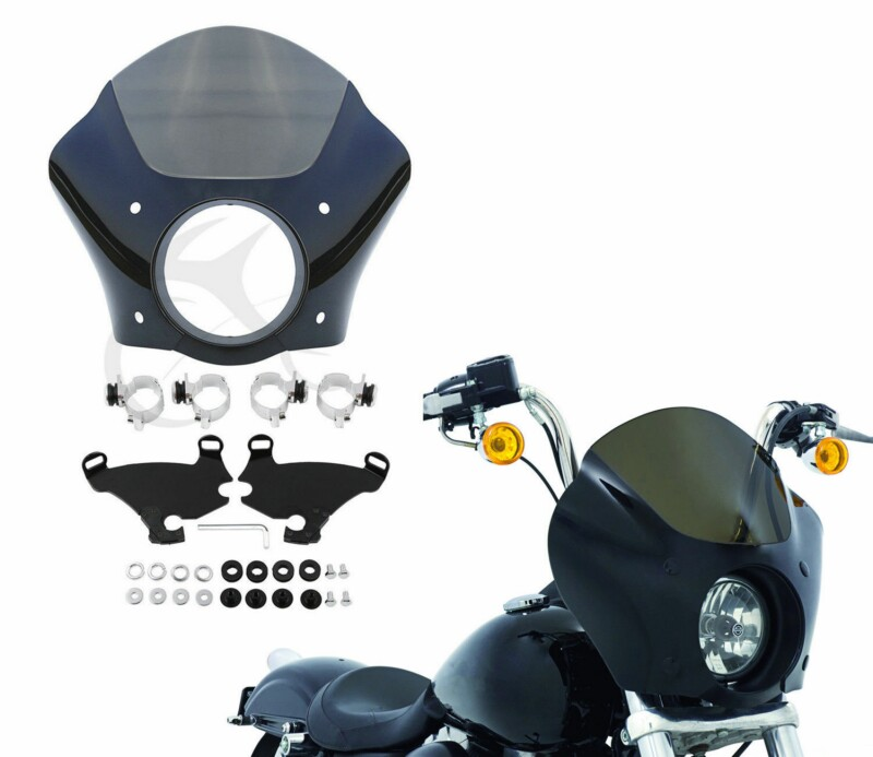Motorcycle gauntlet Headlight Fairing Lock Mount Kit For Harley Sportster XL883 1200X Super Glide 1988 UP