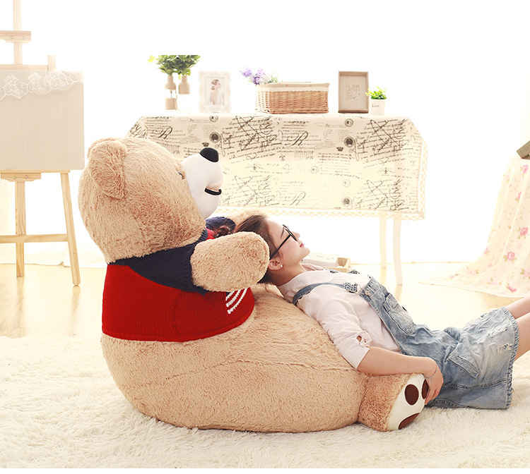 big new plush sweater teddy bear sofa lovely American Bear tatami gift about 70x70x60cmbig new plush sweater teddy bear sofa lovely American Bear tatami gift about 70x70x60cm