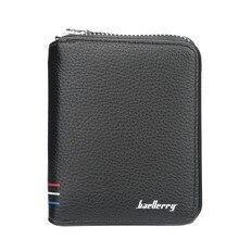 купить Unisex Men Wallets Leather Double Zipper Card Wallet Small Purse for Female Wallet Women Carteira Feminina Card Holder по цене 1121.97 рублей