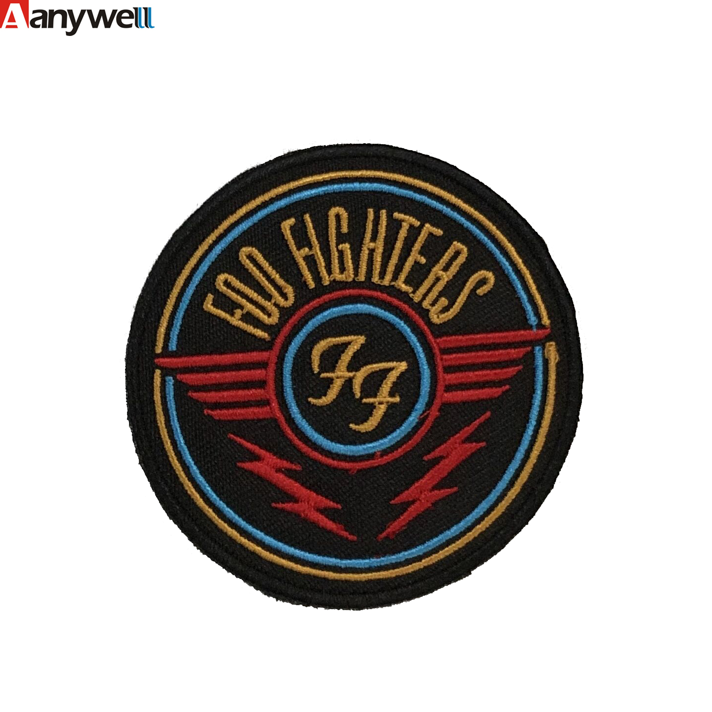 Foo fighters wings felt pattern logo pacthes for military uniform image
