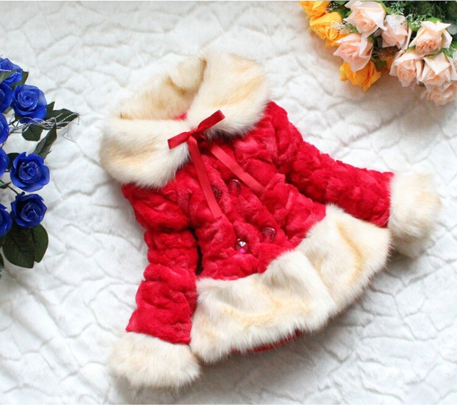 Free shipping  Retail Girls faux fur coat Autumn/Winter Clothes Children Kids jacket Warm clothing IN STOCK.Goods code:9
