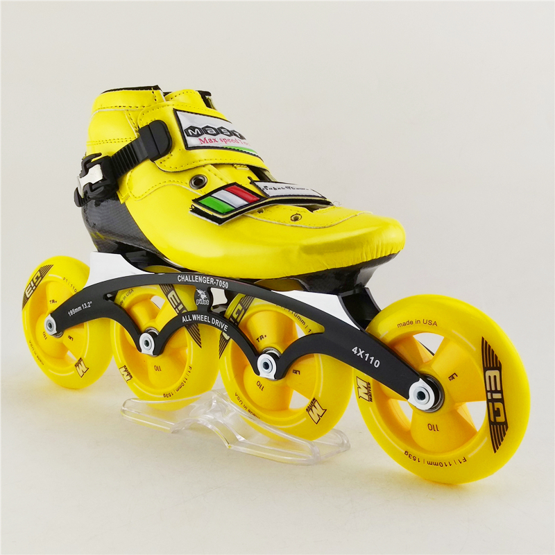 Professional Children' Patins Roller Skates Shoes Top Quality Frame Inline Speed Skates With BSB-9 Bearing Roller Skating Shoes children roller sneaker with one wheel led lighted flashing roller skates kids boy girl shoes zapatillas con ruedas