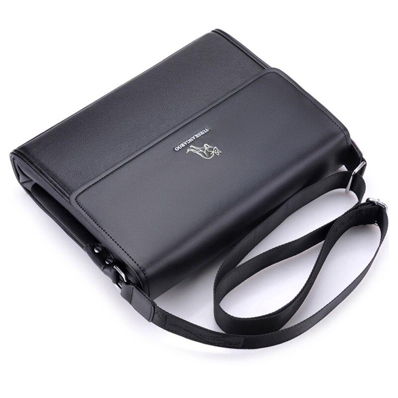 Image 5 - YUES KANGAROO Brand Leather Men Bag Business Shoulder Bag Casual  Mens Crossbody Messenger Bag For A4 document Briefcase bolsabrands  leather man bagleather man bagsmens crossbody messenger bag -