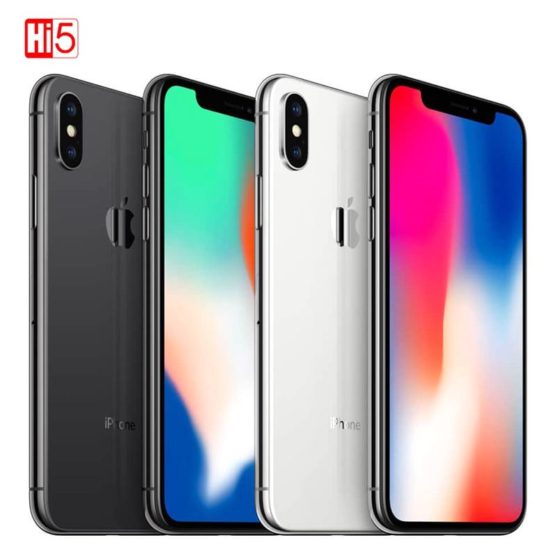 """2019 Unlocked Original Apple Iphone X 5.8"""" 3GB ROM 64GB/256GB Face ID 2716mah Hexa Core 12MP Ios 4G LTE Smartphone Fingerprint"""