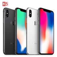 "2017 desbloqueado Original Apple iphone X 5,8 ""3 GB de ROM 64 GB/256GB cara ID 2716mAh Hexa core 12MP iOS 4G LTE SmartPhone de huellas dactilares"