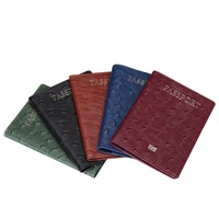 New Passport Holder Genuine Leather Luxury Passport Cover Ostrich Pattern Business Travel Gift For Women Men