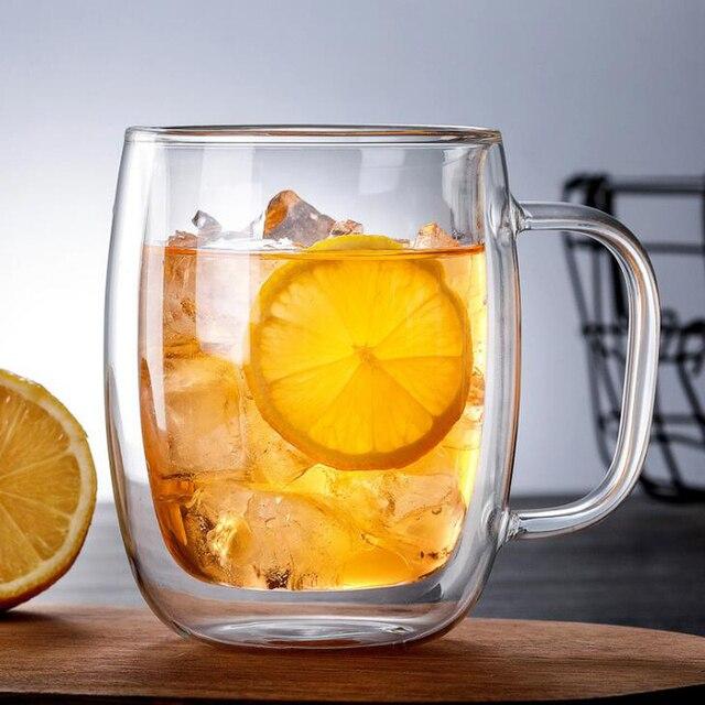 Mug double paroi design grande taille en verre Tasses et Mugs 🎁 Idées Cadeaux Cocooning.net