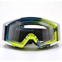 BJMOTO Motocross Occhiali Occhiali per Helmet Corse Occhiali Dirt Bike ATV MX Goggles Clear Tinted Lens Off Road Regolabile