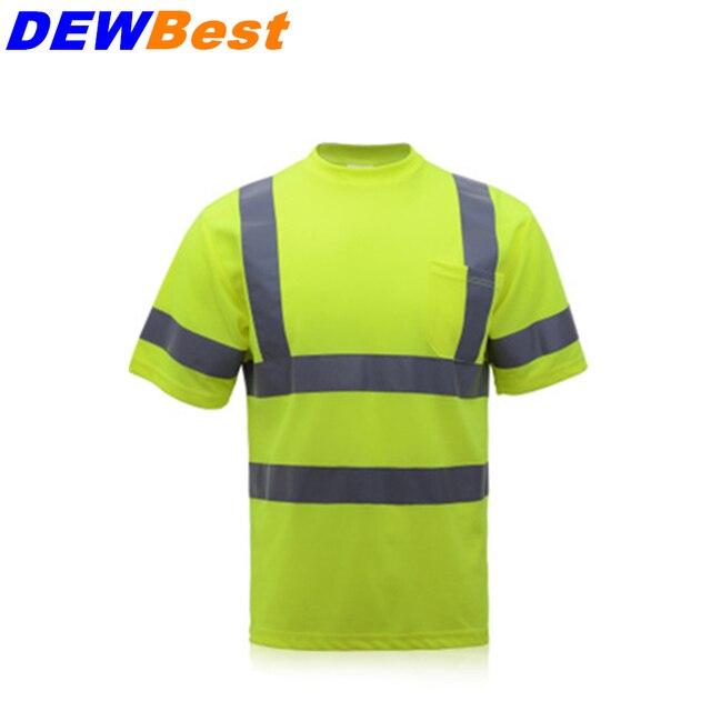 317a81f135ba1 Verão camisa respirável roupas de trabalho de trabalho de segurança de Alta  visibilidade reflexiva da segurança